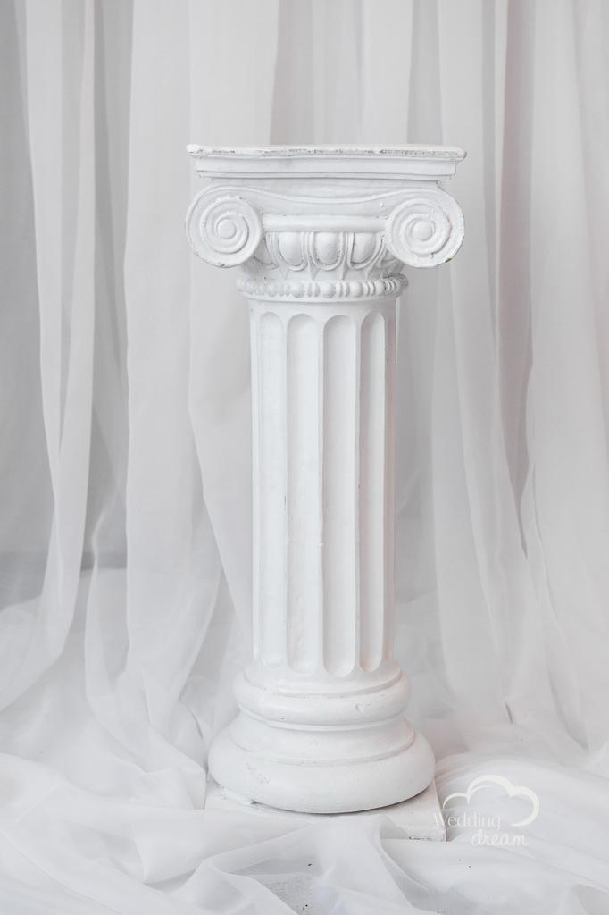 30'' White Roman Pillar