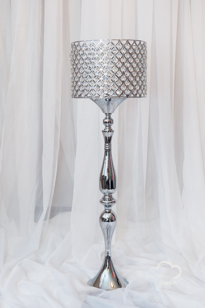 Large Lamp with Diamond Lamp Shade