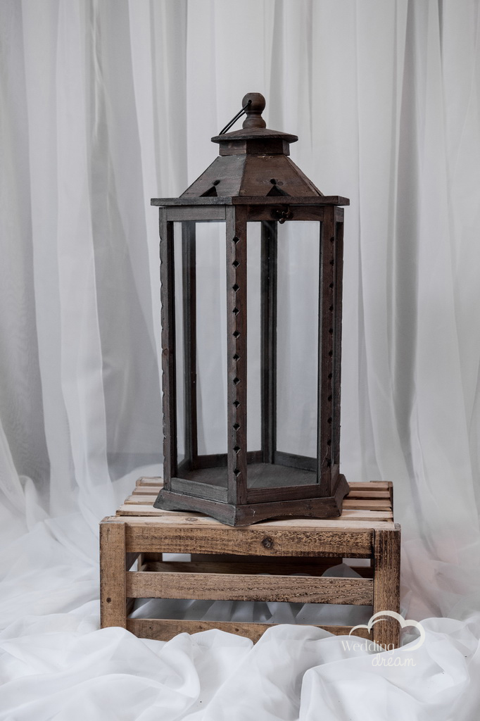 Large Rustic Wooden Lantern Money & Card Holder