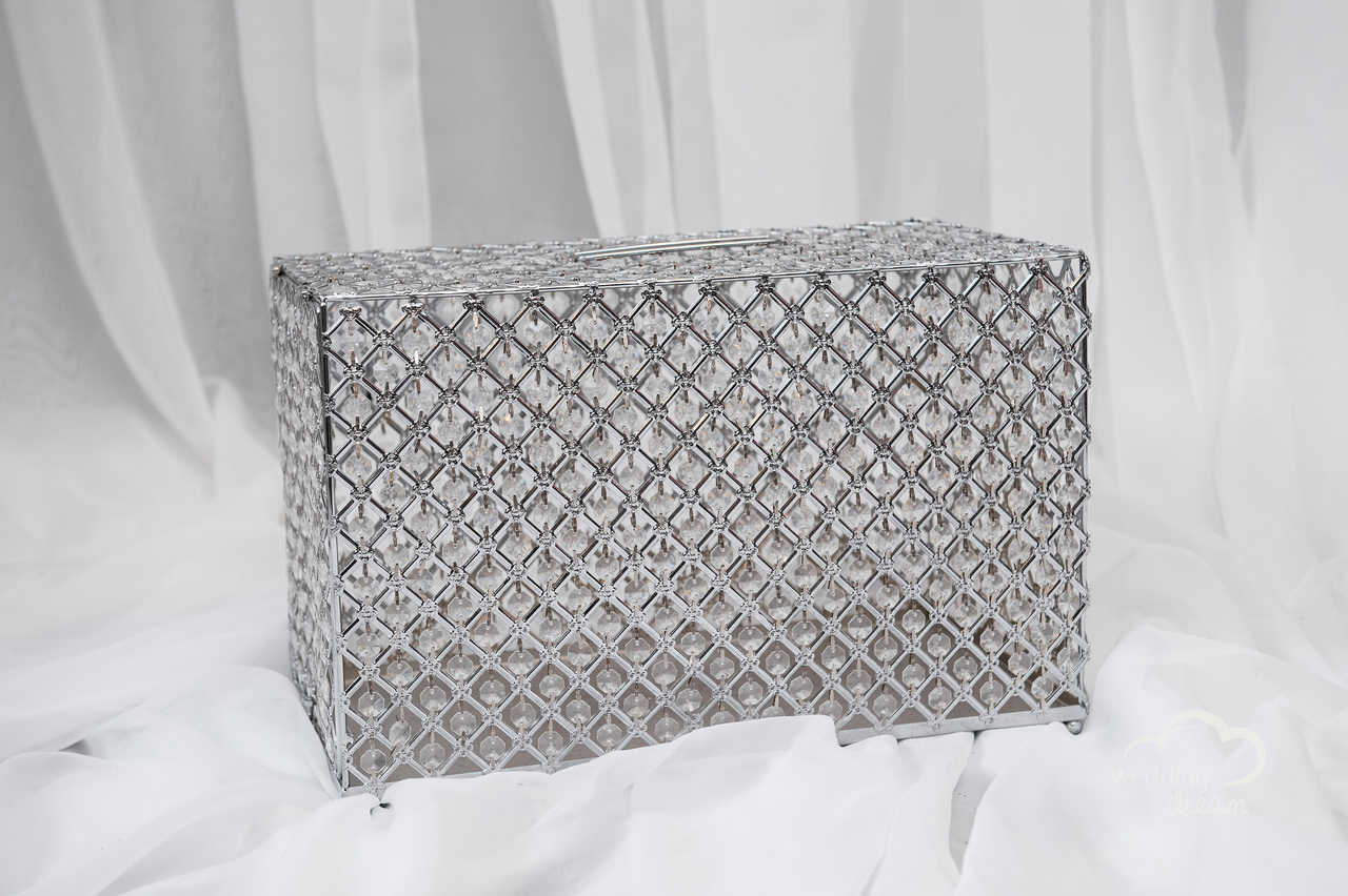 Large Silver Bling Card & Money Holder