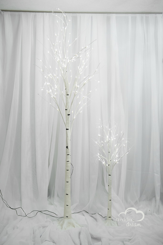 LED White Birch Tree Tentals in 2 Sizes
