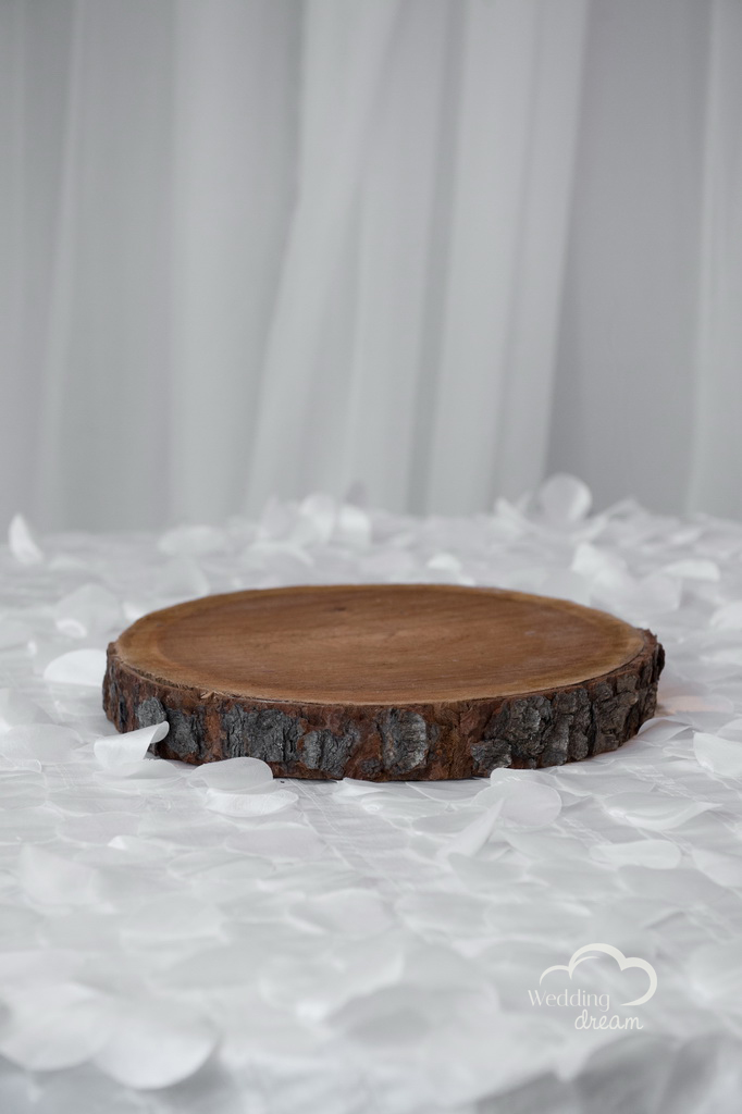 Cherry Wood Slab Centrepiece