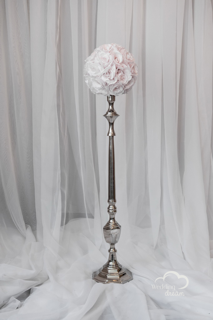 Tall Silver Candelabra Stands