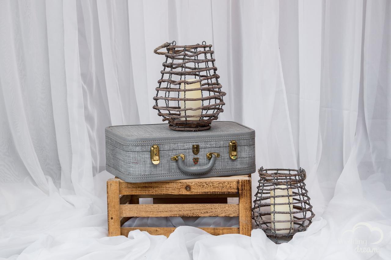 Wooden Lantern Centrepieces
