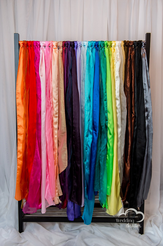 Available Colours for Chair Sash Rentals