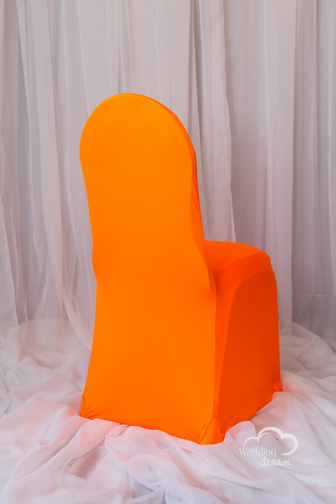 Florescent Orange Spandex Chair Cover