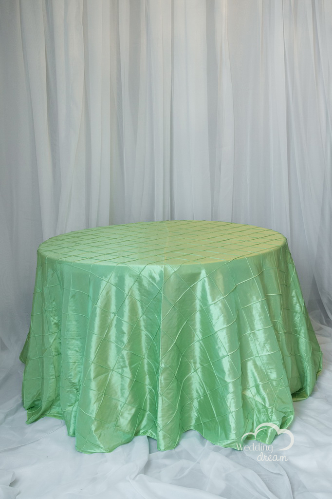 Apple Green Pintuck Table Cloth