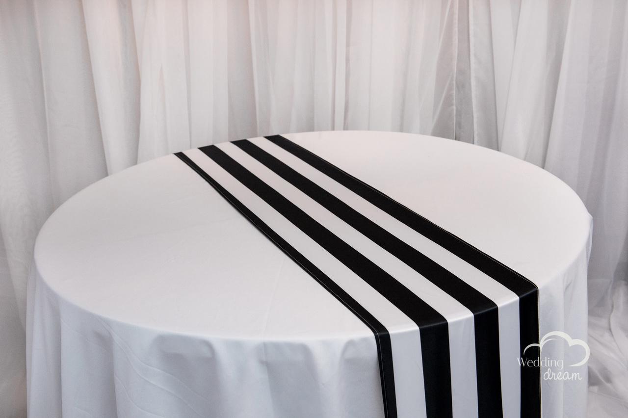 ... Black And White Striped Table Runner Black White Striped Satin Table  Runner ...