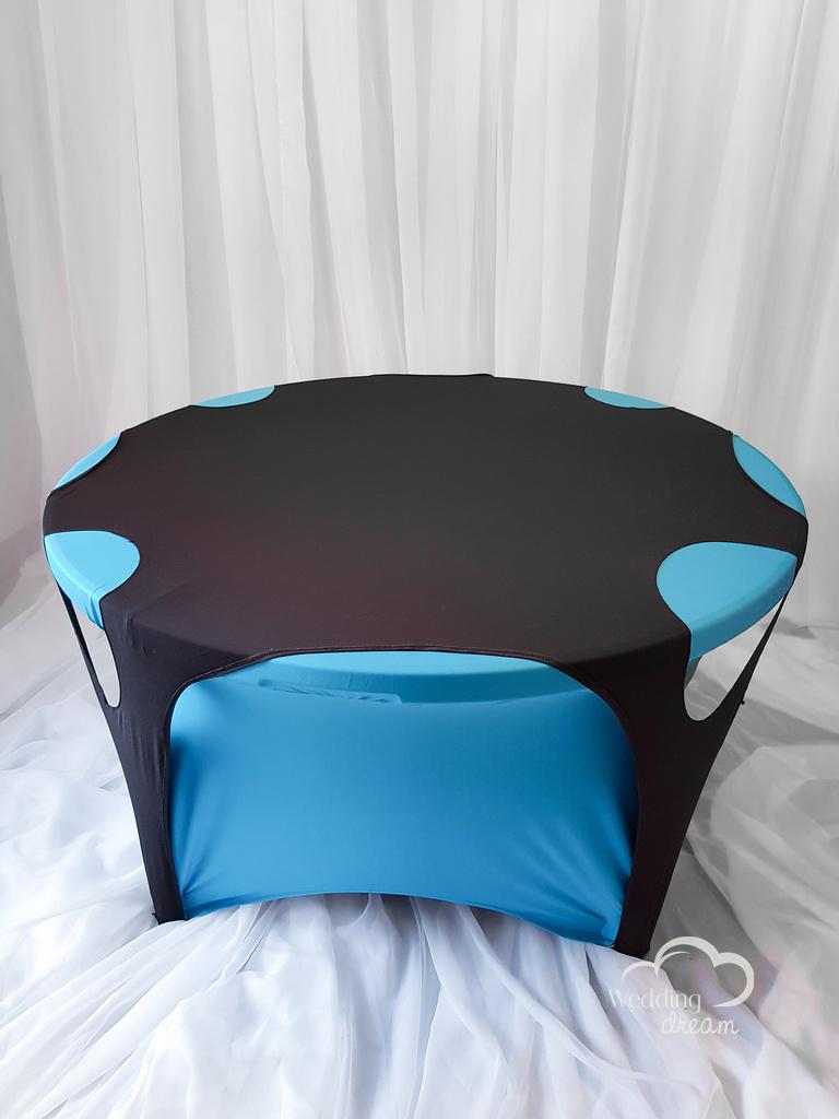 Black Hole Spandex Overlay Table Cloth