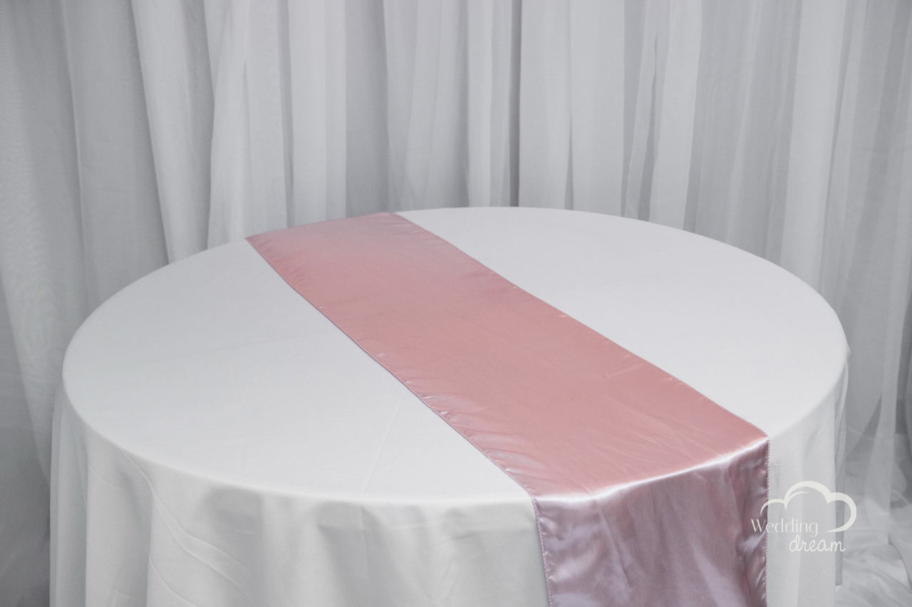 Blush Pink Satin Table Runner