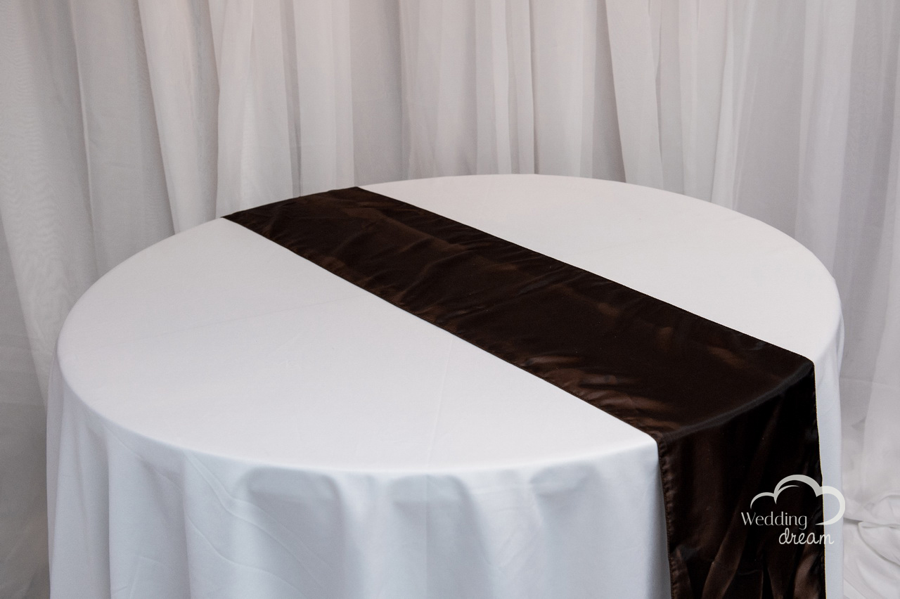 rentals brown online taffeta table linens tables runner catalog
