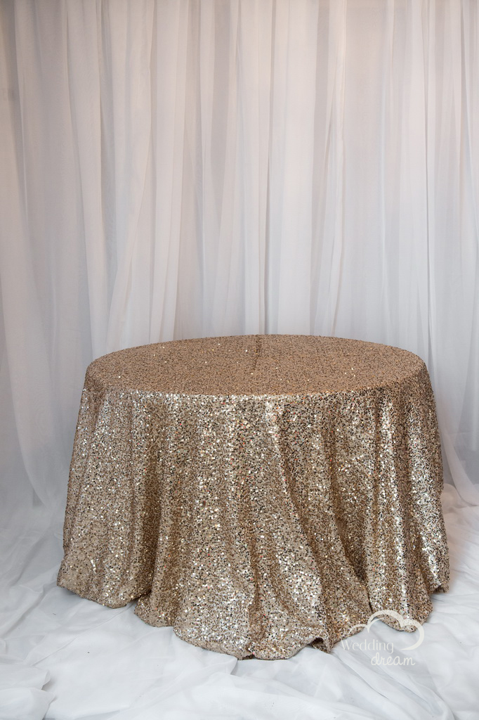 Champagne Sequins Table Cloth