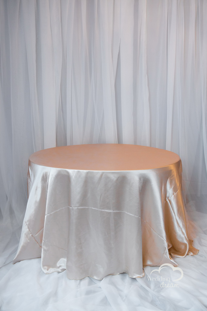 Champagne Satin Table Cloth