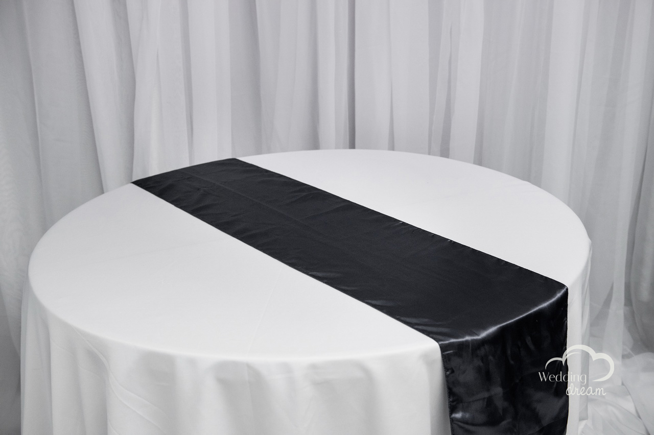 Charcoal Satin Table Runner