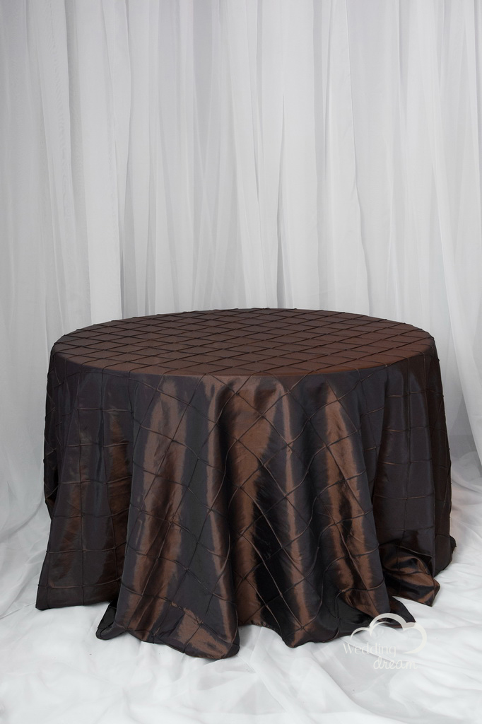 Chocolate Brown Pintuck Table Cloth