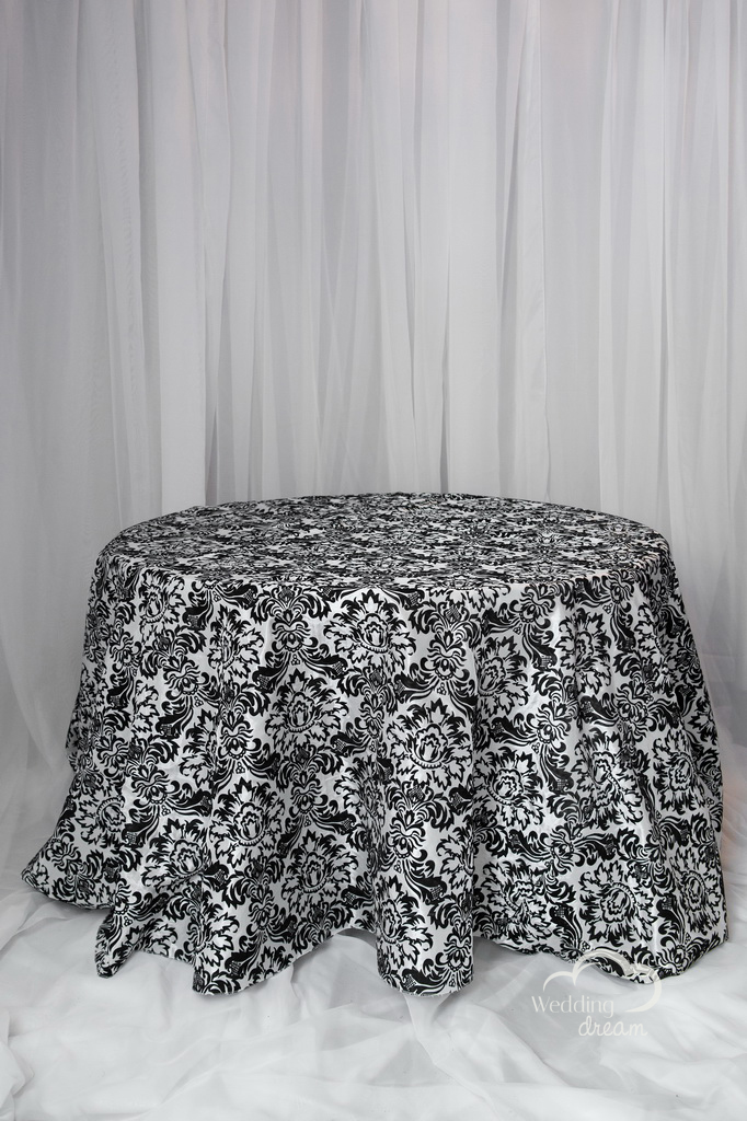 Damask Flocked Table Cloth
