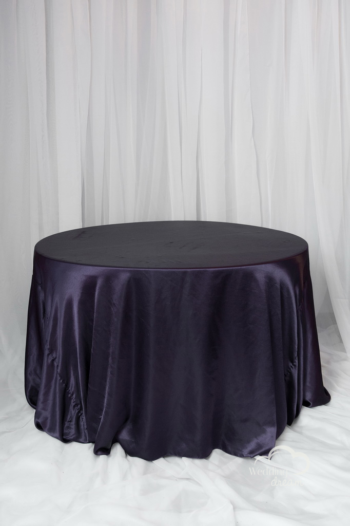 Eggplant Satin Table Cloth
