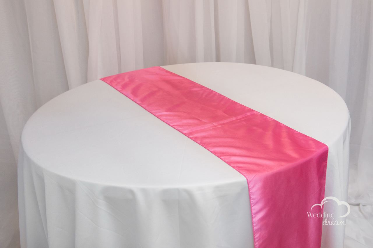 Hot Pink Taffeta Table Runner
