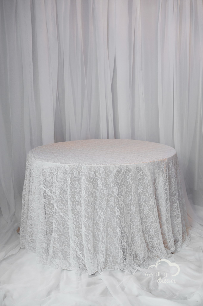 Ivory Lace Table Cloth