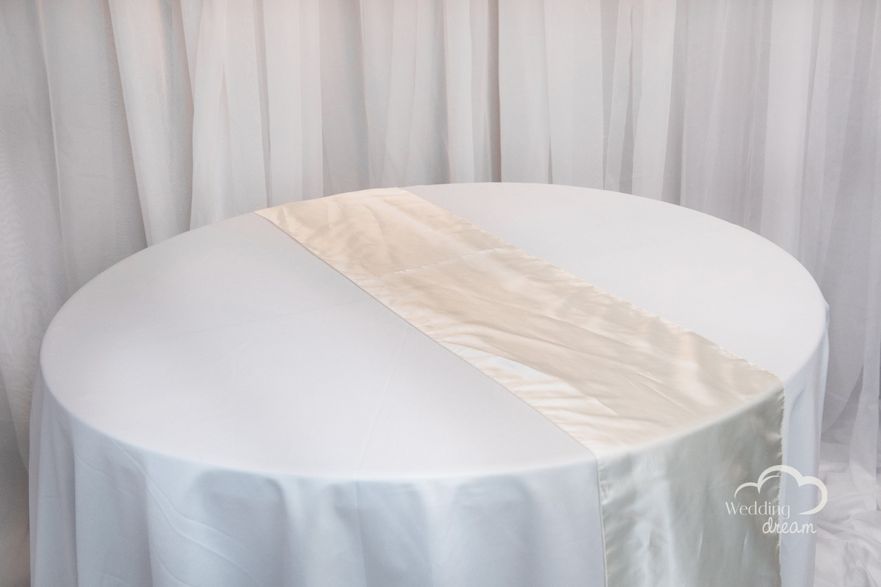 Ivory Taffeta Table Runner