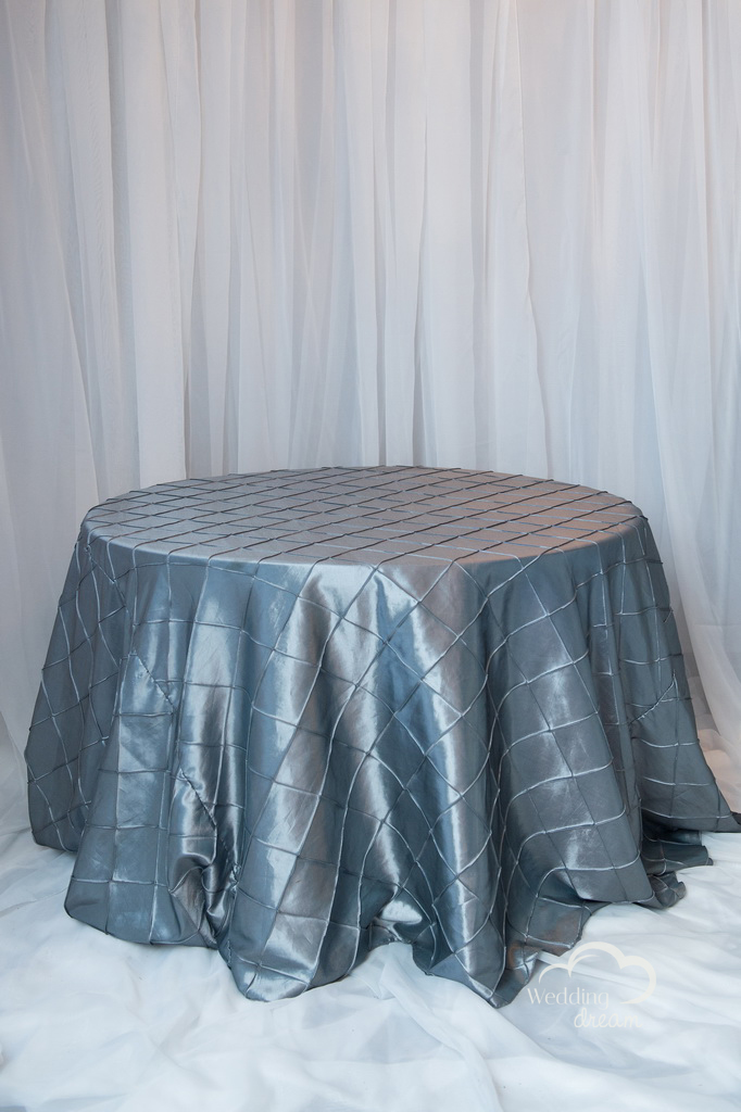 Platinum Silver Pintuck Table Cloth
