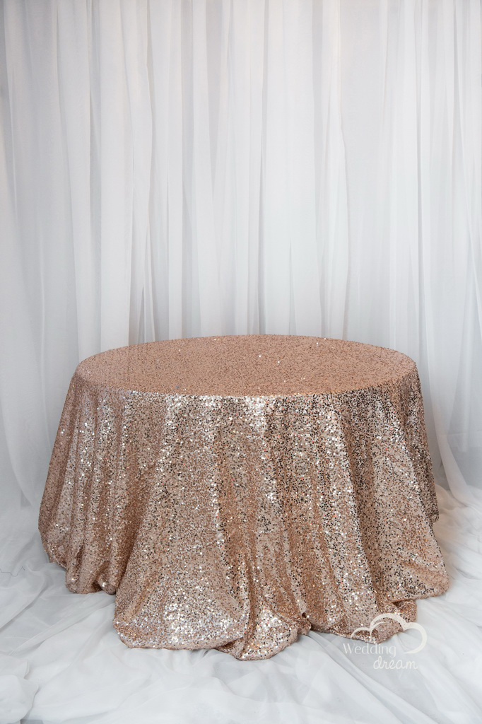 Rosegold Sequins Table Cloth