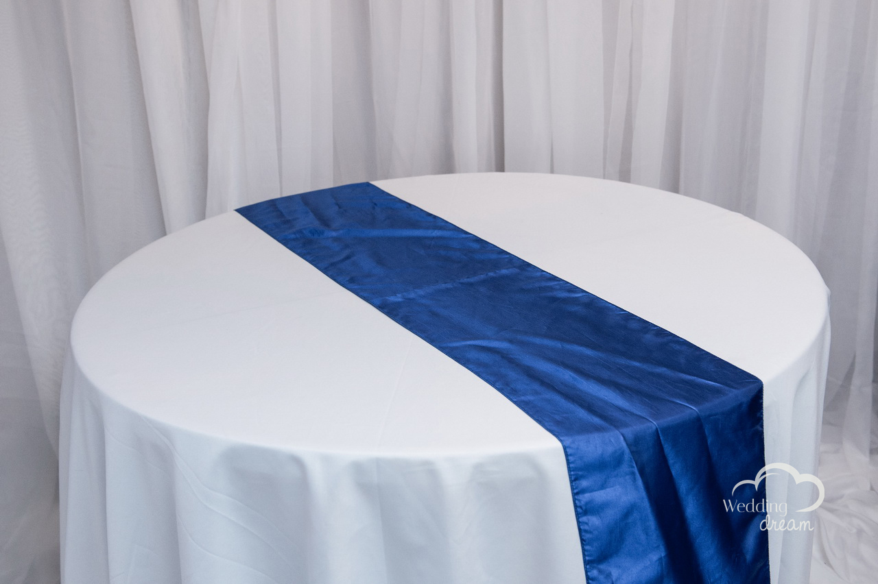 Royal Blue Taffeta Table Runner