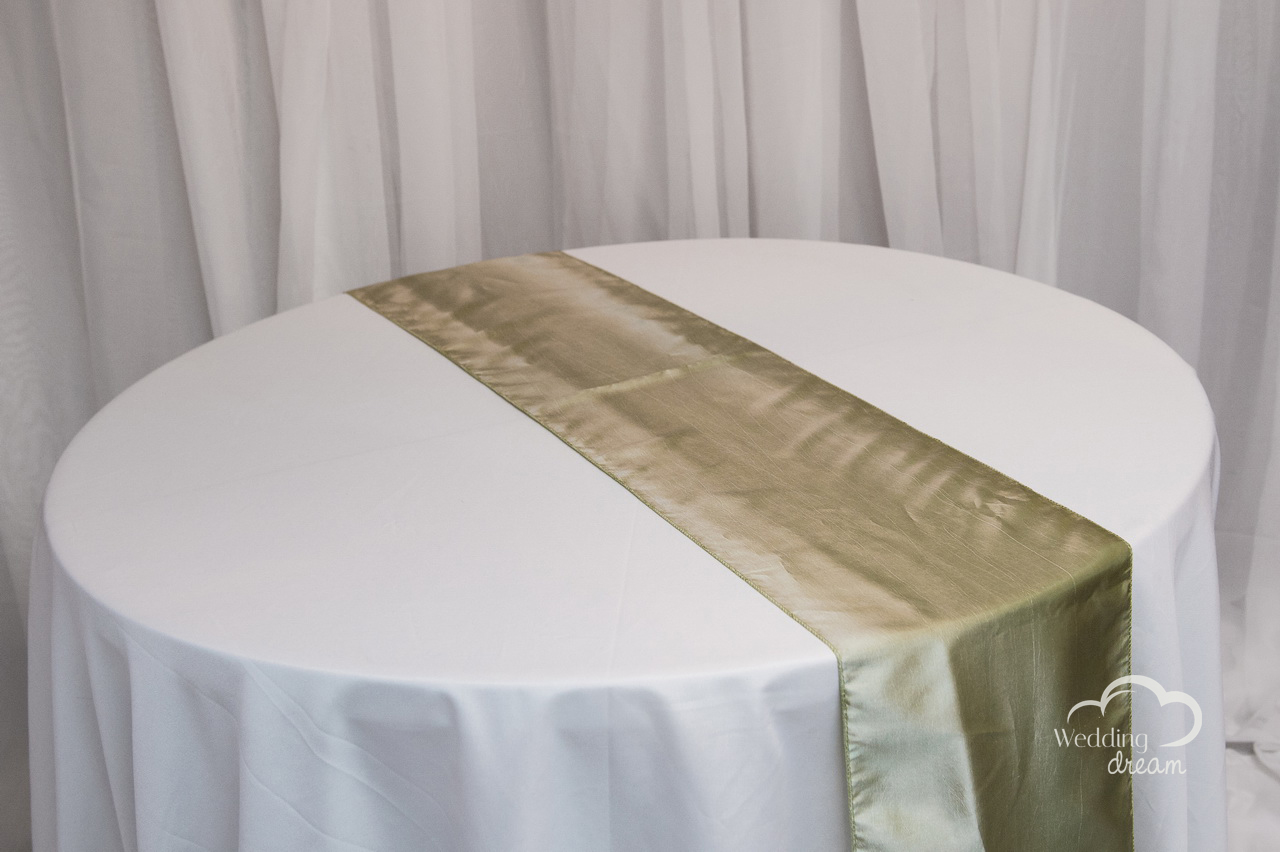 Sage Green Taffeta Table Runner