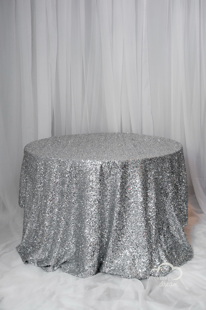 Silver Sequins Table Cloth