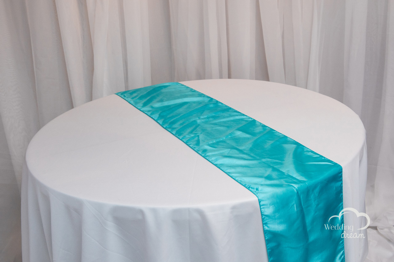 Tiffany Blue Taffeta Table Runner