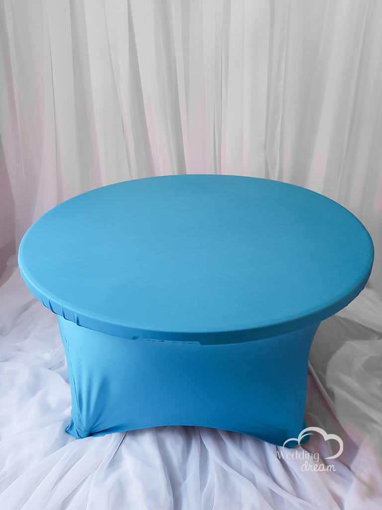 Turquoise Blue Spandex Table Cloth