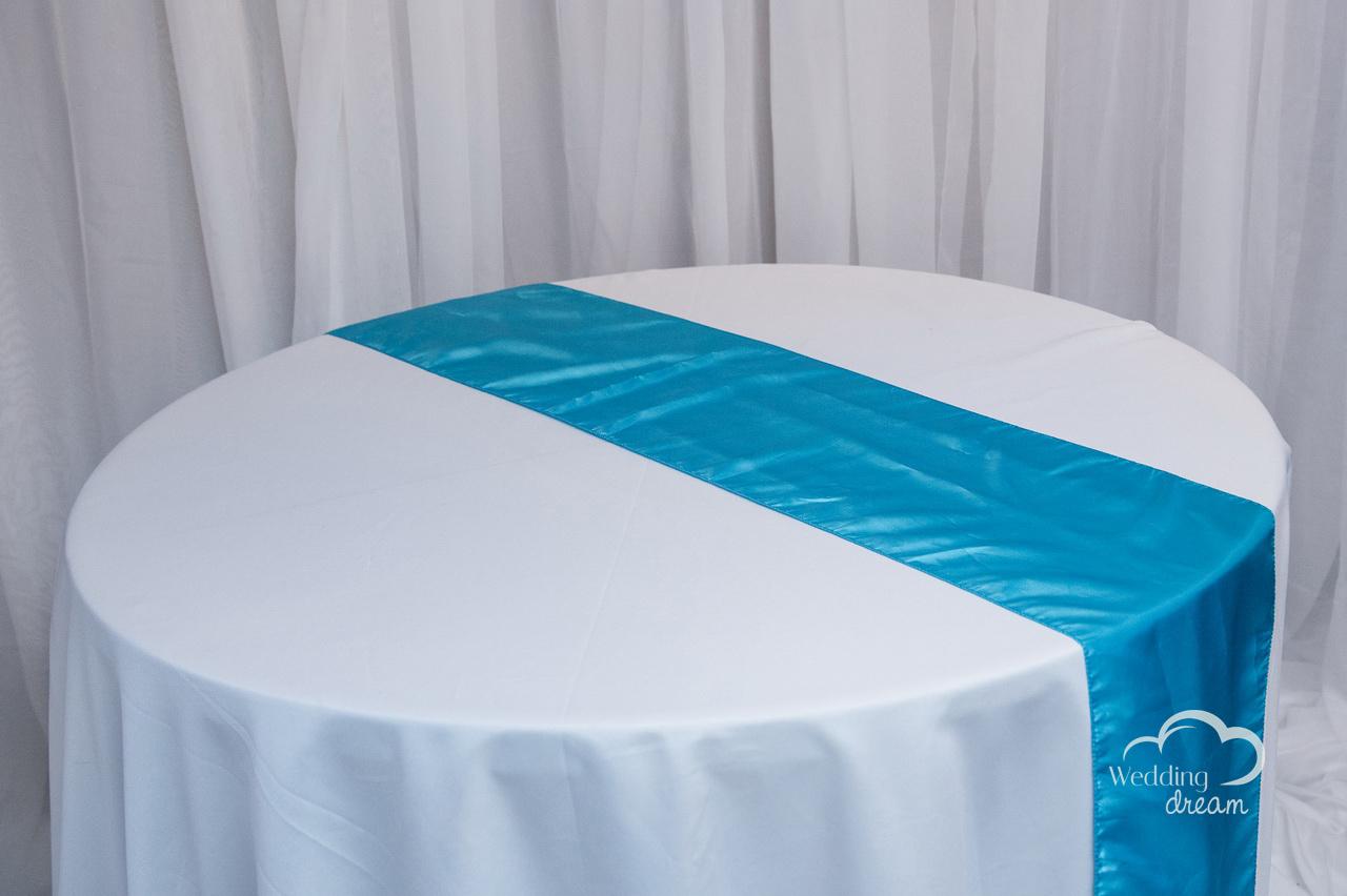 Turquoise Taffetta Table Runner