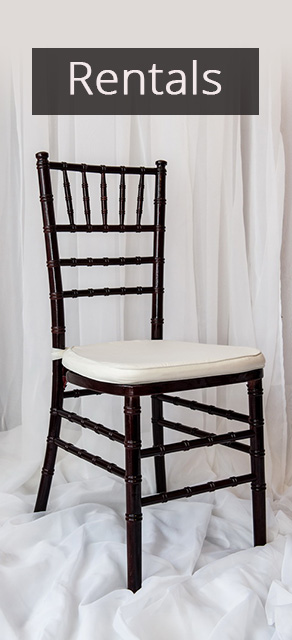 rentals chairs weddings cages