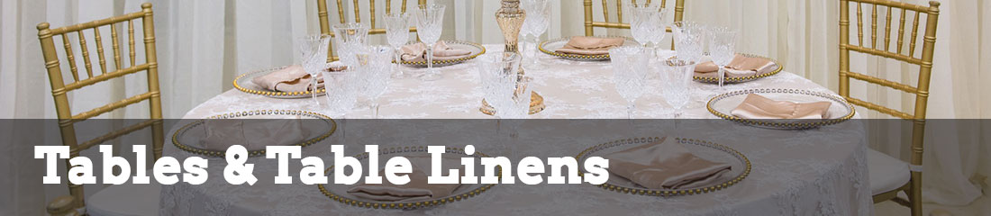 tables and table linens rentals
