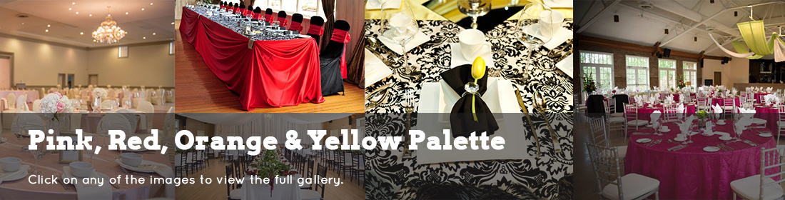 wedding dream gallery header Pink red orangeandyellow