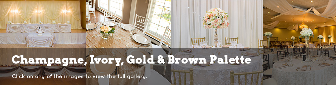 wedding dream gallery headers champagne ivory gold brown