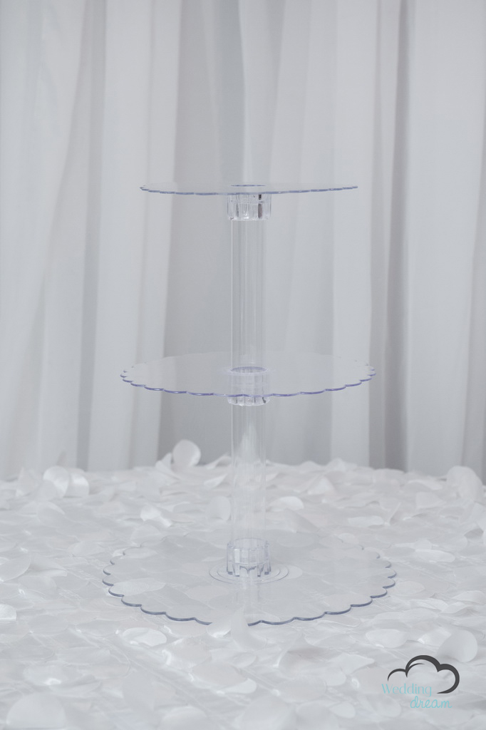 Acrylic 3-Tiered Cupcake Stand