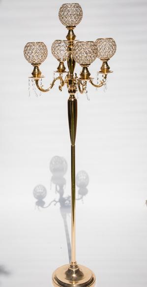 Gold floor standing candelabra