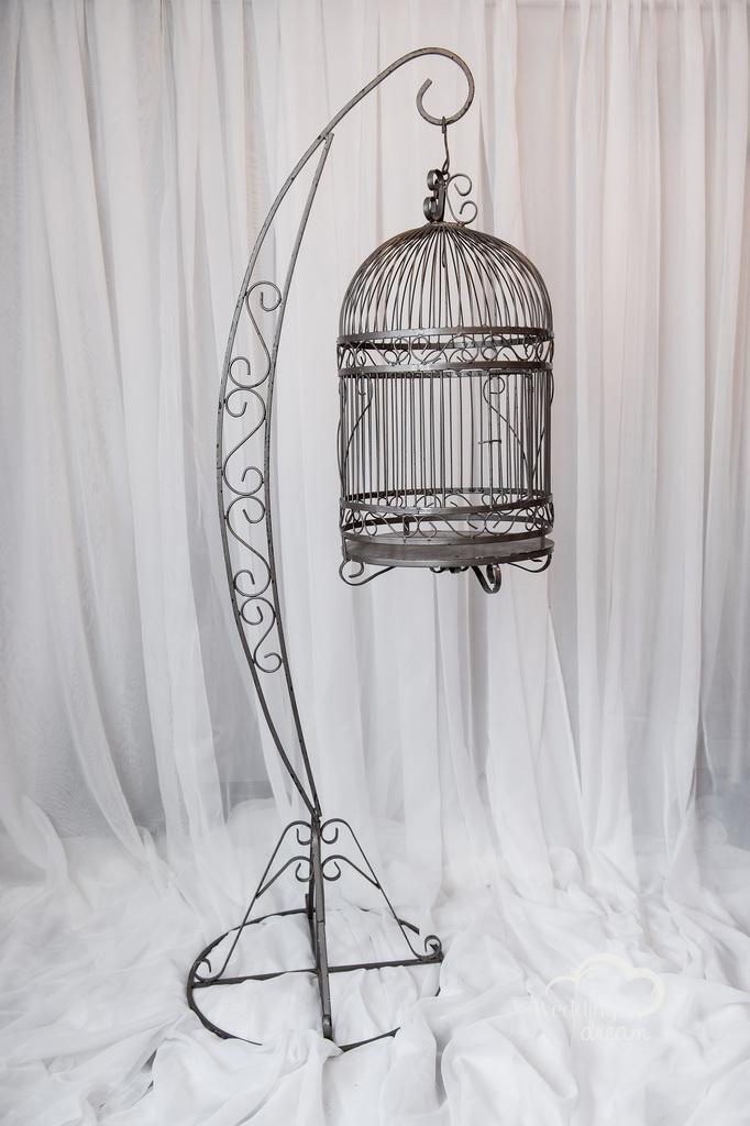 Hanging Bird Cage Money Holder