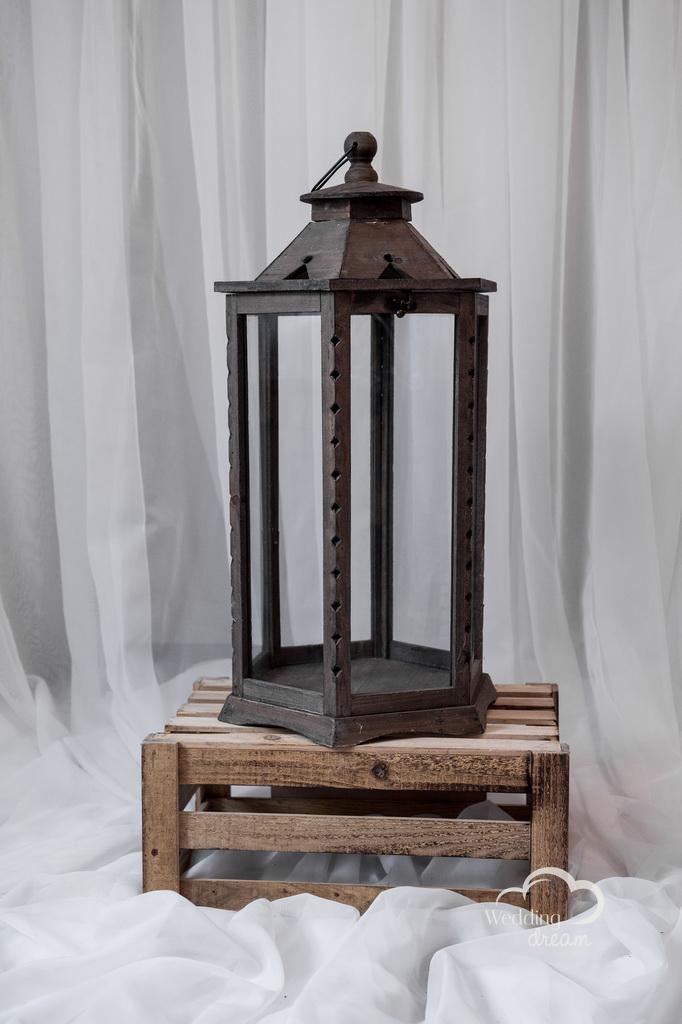 Large Rustic Wooden Lantern Money & Card Holder