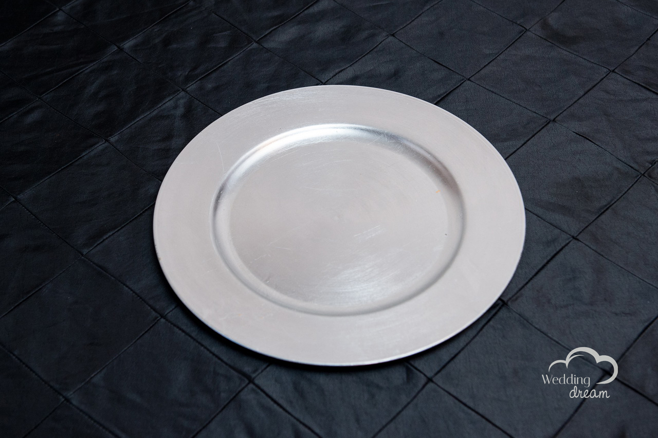 Silver Acrylic Charger Plates