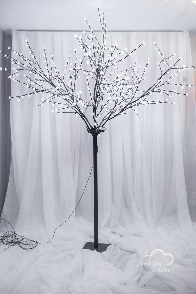 Black Cherry Blossom Tree with LED lights