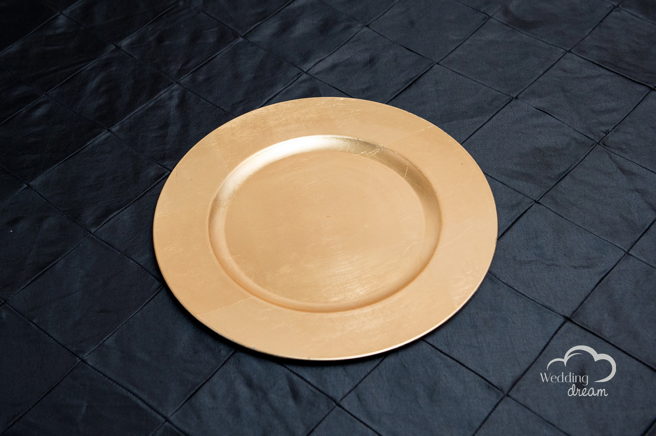 Gold Acrylic Charger Plates