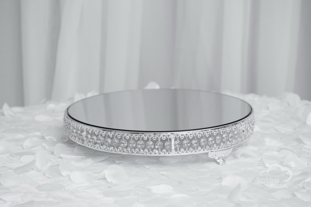 Mirrored Bling Cake Stand (20'' wide)