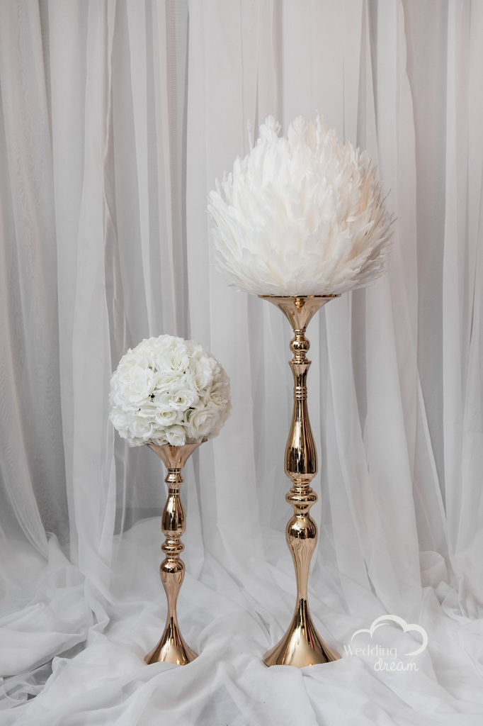 Gold and Silver Candle Holders