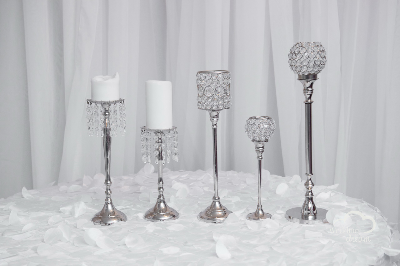 Diamond Candlestick Stands in Assorted Sizes