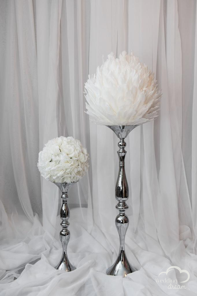 Silver Candelabra Stands Centerpiece for Flower Balls