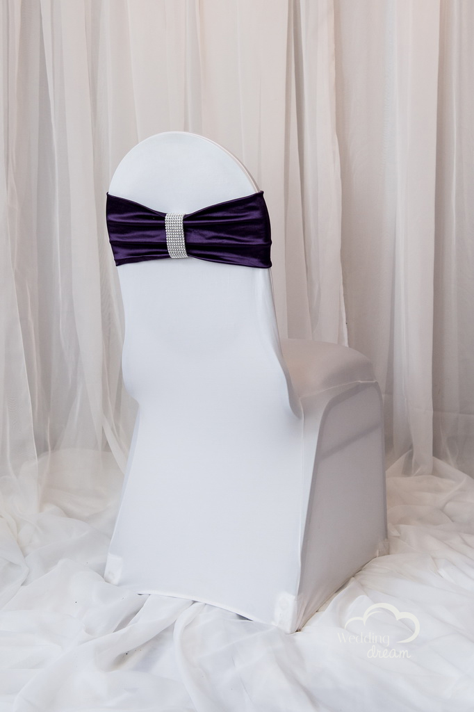 Eggplant Purple Chair Bling Wrap