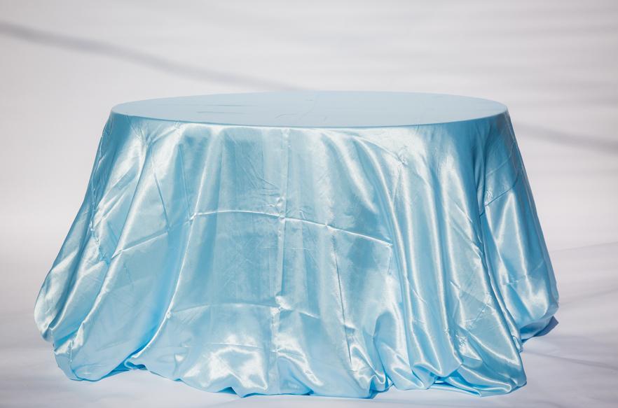 Baby Blue Satin Table cloth