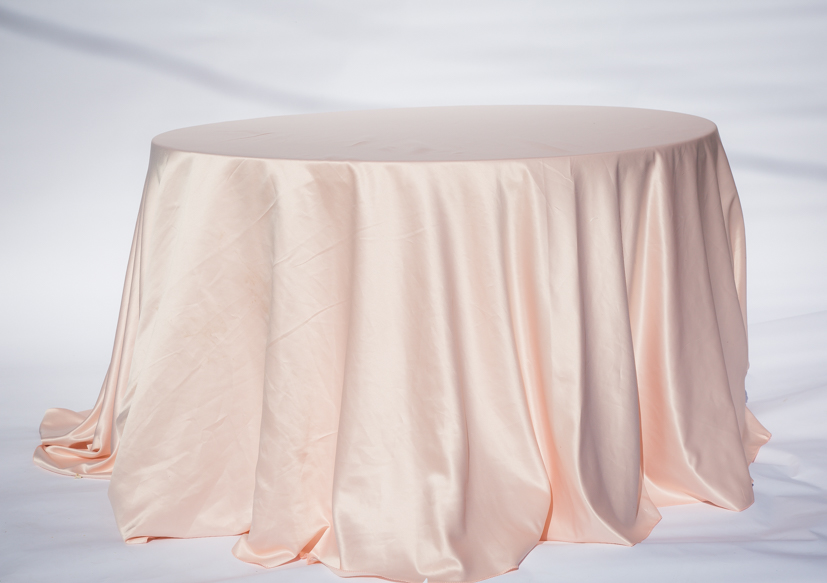 Blush Lamour Satin Table Cloth